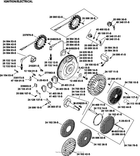 kohler parts diagram kohler 241 engine parts diagram kohler 5e generator parts