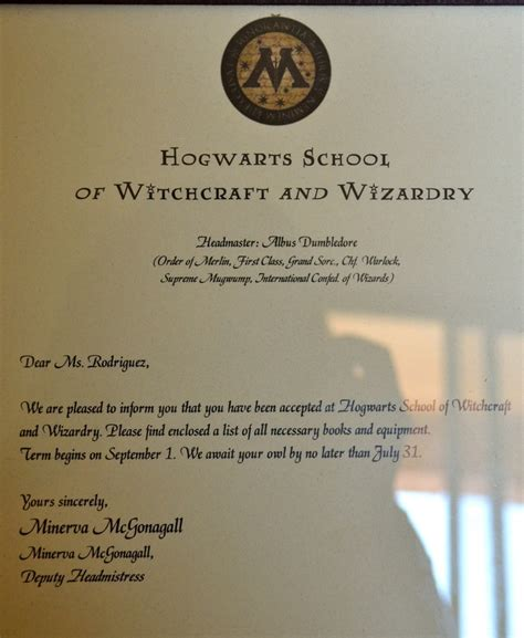 Harry Potter Acceptance Letter Template Uploaded Harry Potter Fonts From And Followed Sle To Personalize Hogwarts Acceptance