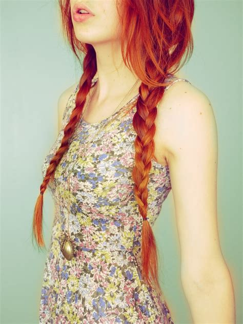 hair plats with color beautiful ginger braids ginger kittens pinterest