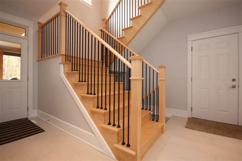 stair banister ideas staircase ideas and styles craftsman oak curved new home
