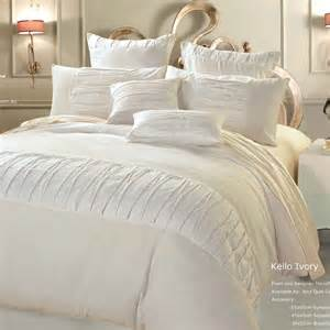 luxton linen kello ivory queen or king duvet quilt cover