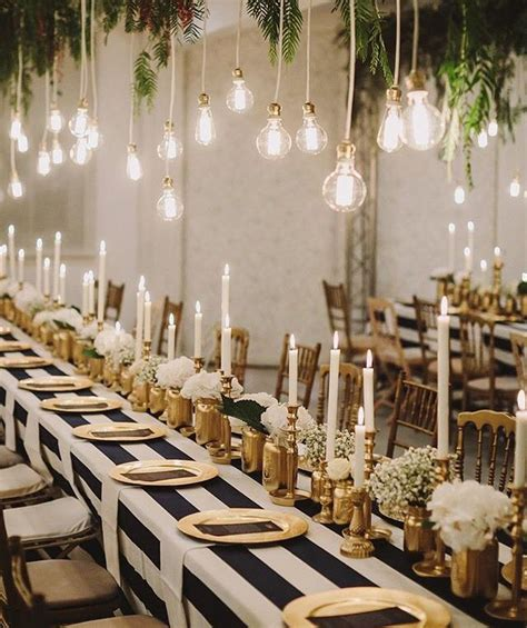 gold black and white entertaining party ideas