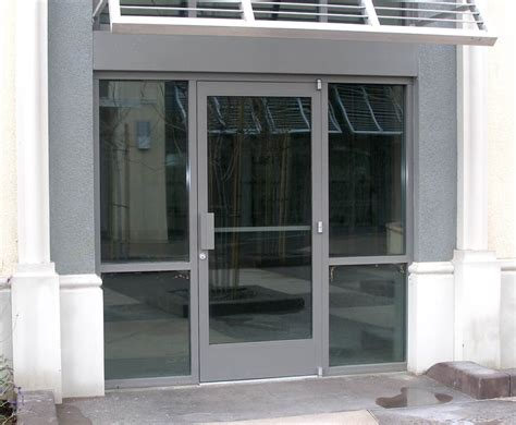 Commercial Exterior Door Glass Aluminum Advanced Commercial Doors Inc