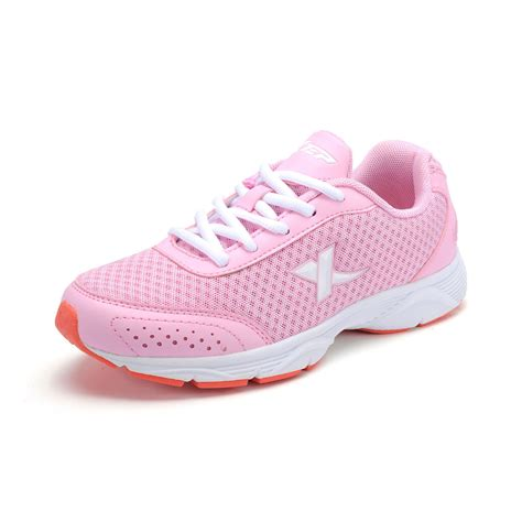 comfortable professional shoes women xtep professional women pink running shoes mesh pu