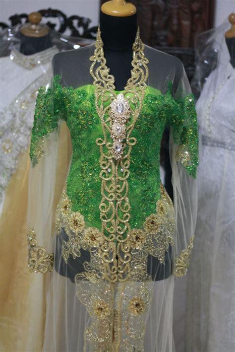 Kebaya Pengantin Cantik Payet Mgb kebaya hijau cantik penjahit kebaya 085890548801