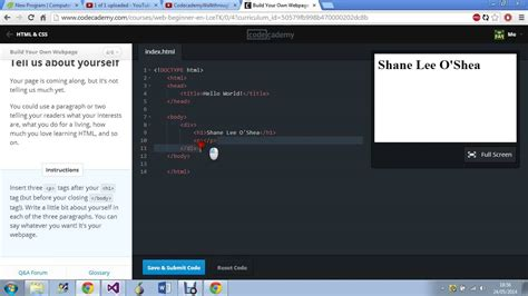 css tutorial code academy codecademy quot build your own webpage quot full tutorial youtube