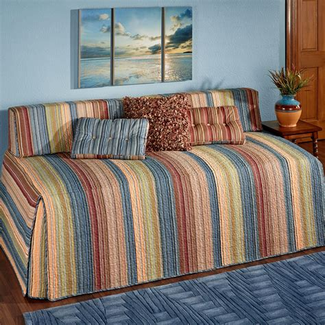 quilted comforters katelin striped quilted hollywood daybed cover bedding