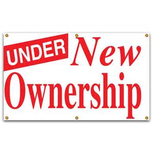 Rental Home Decor lynch sign 5 ft x 3 ft red on white vinyl under new