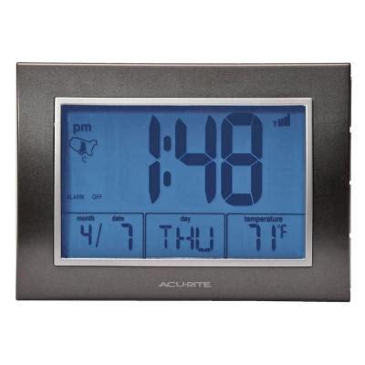Digital Atomic Desk Clock acurite 5 in x 7 in digital atomic desk alarm clock 75065a2 the home depot