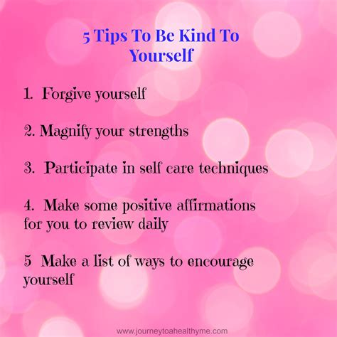 5 Ways To Be Nicer To Your by 5 Steps To Be To Yourself