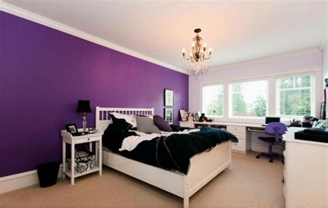 mysterious purple colors for bedroom room decorating