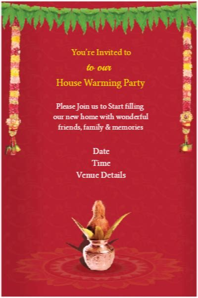 Indian Housewarming Invitation Cards Templates by Griha Pravesh Greeting Cards Griha Pravesh House Warming