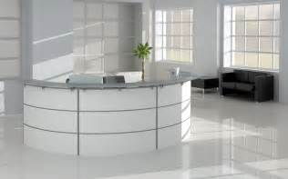 Black and white reception office furniture