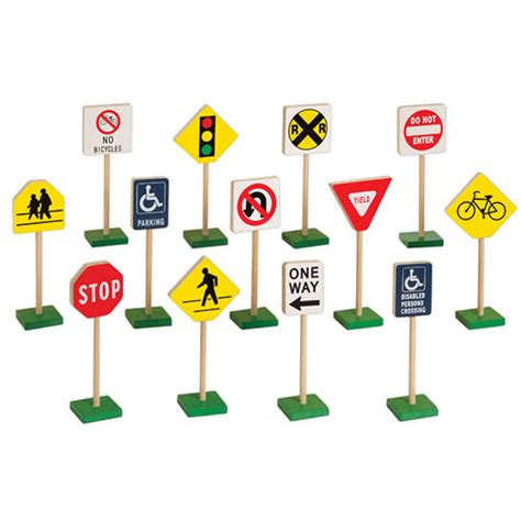 Bagus Car Mat 5 Pcs Abu Abu miniature traffic signs 13 pcs 7 quot h