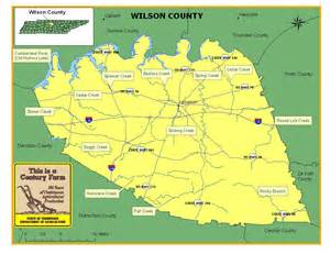 wilson county map wilson county tennessee century farms