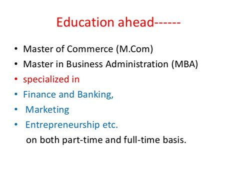 Specialized Mba Programs In India by Scope For Commerce Students