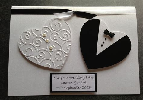 Handmade Wedding Card Designs - handmade wedding card personalised cards