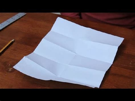 Fold Paper Seven Times - how to fold a paper into tenths paper folding projects