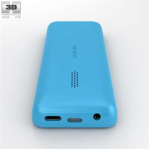 Nokia 105 Handphone Cyan nokia 105 dual sim cyan 3d model humster3d