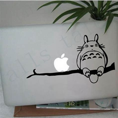 Apple Mac Book 13 Decal Anime Geisha free shipping totoro on branch for apple macbook 13 inch 11 inch vinyl decal laptop sticker