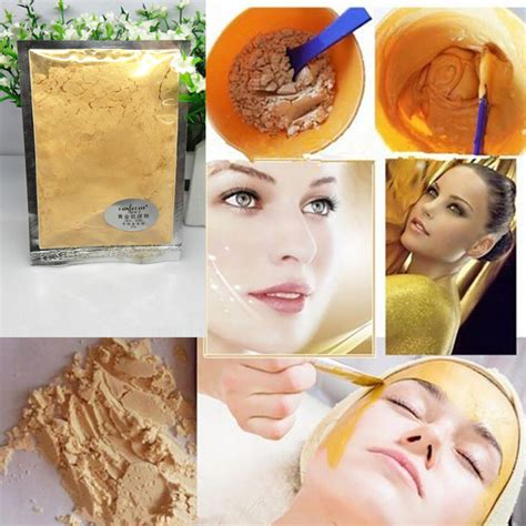 Mask Collagen White Masker Muka Gold Bioaqu 24k gold collagen mask powder anti aging anti wrinkle luxury spa treatment moisturizing