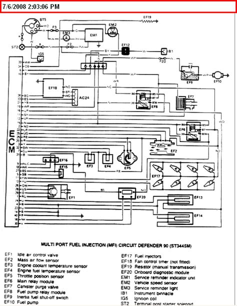 diagrams 14741095 land rover defender wiring colours