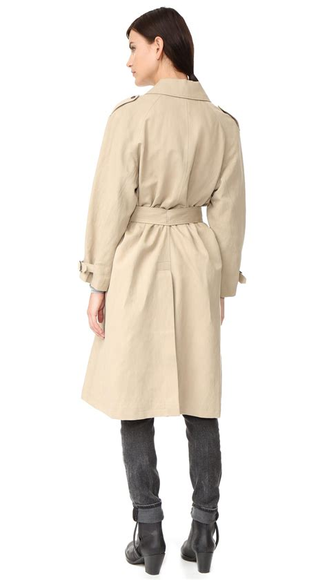 belstaff alne trench coat in lyst