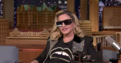 Madonna I Underpants Tonight On The Late Show With David Letterman Mound by Madonna Give Jimmy Fallon Mud Mask Talk Obama