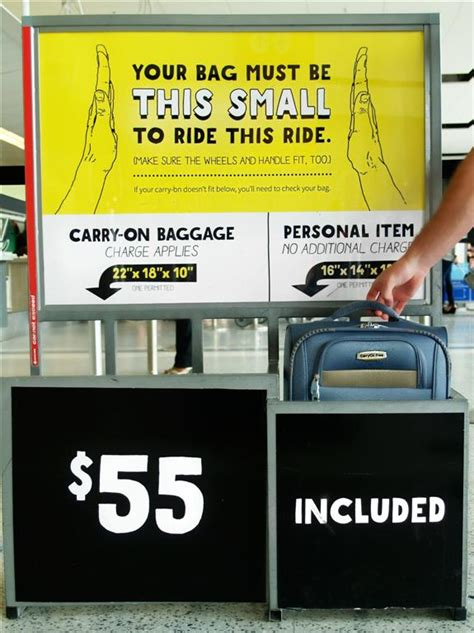 American Airlines Baggage Fee by Spirit What S The Biggest Bag I Can Bring Without Getting