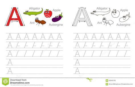 Business Letter Exercise Worksheet Tracing Worksheet For Letter A Stock Vector Image 62840136
