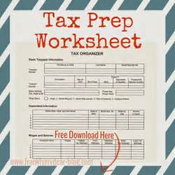 Tax Preparation Worksheet by Printable Tax Prep Worksheet Biz Stuff