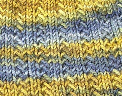 yo knitting stitch herringbone rib row one knit row two k2 slip 1 k1