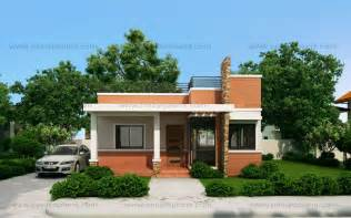 Small House Design Pictures Rommell One Storey Modern With Roof Deck Eplans