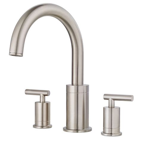 pfister bathtub faucets pfister contempra 2 handle high arc deck mount roman tub