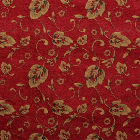 floral chenille upholstery fabric floral chenille vines vintage traditional jacquard