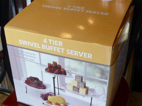 4 tier buffet server 4 tier swivel buffet server