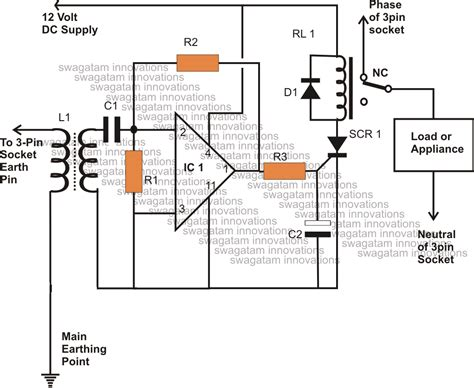 earth leakage circuit breaker connection diagram earth