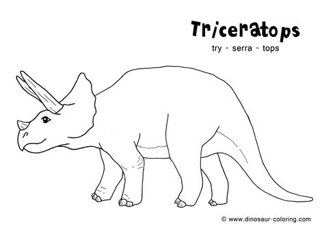 image gallery triceratops outline