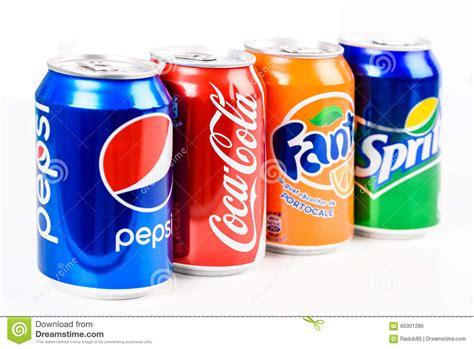 Coca Colaspritefanta pepsi coca cola sprite and fanta soda drinks editorial