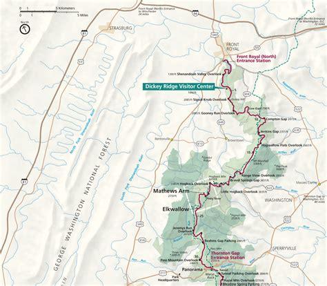 skyline drive map maps shenandoah national park u s national park service