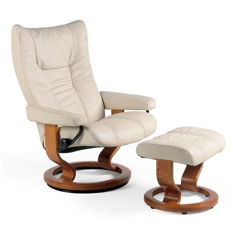 best stressless recliner stressless wing medium recliner ottoman from 2 395 00