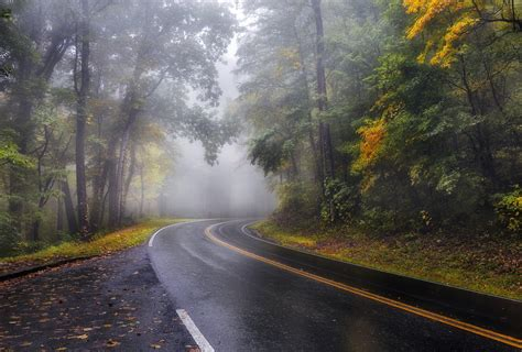 mist road landscape wallpapers hd desktop  mobile