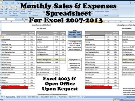 28 excel sheet sle sales and expenses excel template