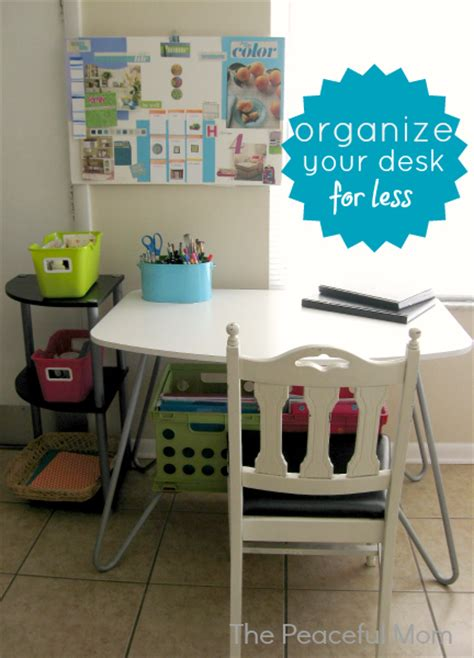 How To Organize A Small Desk Organize Your Desk On A Budget The Peaceful