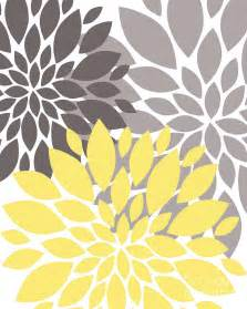 Yellow And Grey Curtain Yellow Grey Peony Flowers Digital Art By Edit Voros