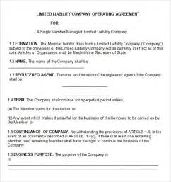 operating agreement llc template free operating agreement 7 free pdf doc download free missouri single member llc operating agreement form