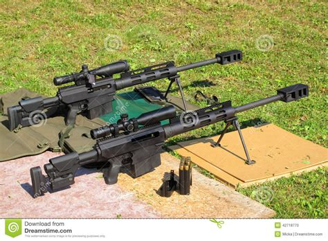 50 Bmg Sniper by Sniper Rifles Caliber 50 Bmg Stock Photo Image 42718770