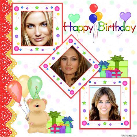 decorar fotos para cumpleaños online postal de cumplea 241 os para tres fotos programas para