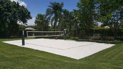 how to build a sand volleyball court in backyard sand court experts