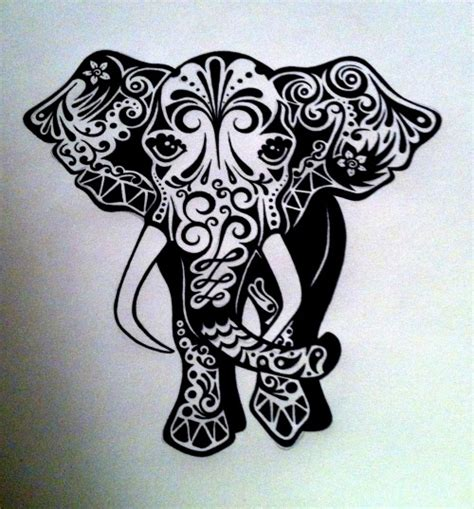 elephant drawing on